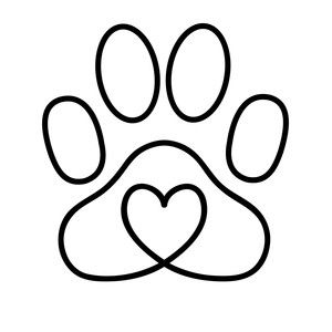 Silhouette Design Store: Heart Paw Print - You are in the right place about diy Here we offer you the most beautiful pictures about the diy - Dog Tattoos, Cute Tattoos, Small Tattoos, Cat Paw Print Tattoo, Silhouette Design, String Art, Easy Drawings, Rock Art, Painted Rocks