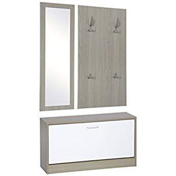 Ts Ideen 3er Set Garderobe Spiegel Schuhkipper Schuhschrank