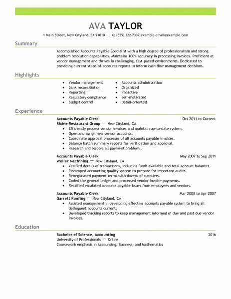 Accounts Payable Job Description Resume Elegant Best Accounts Payable Specialist Resume Example In 2020 Resume Examples Basic Resume Examples Basic Resume