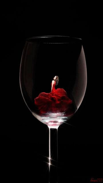 A Glass of Fine Red Wine