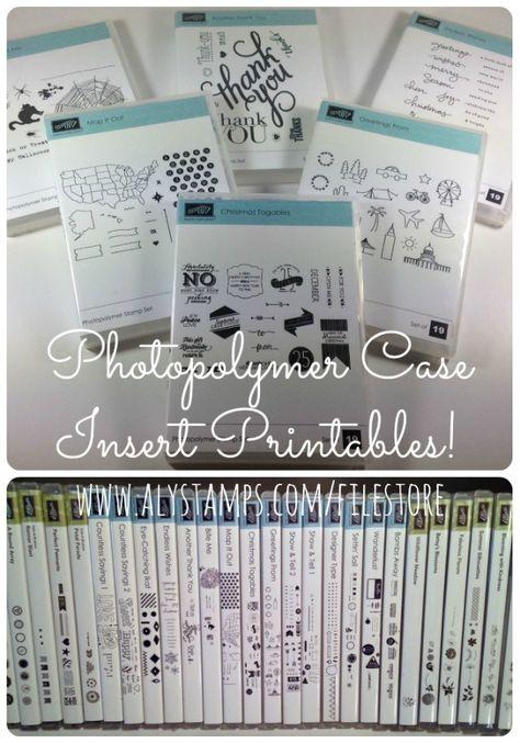 Photopolymer Case Insert Printables!!!