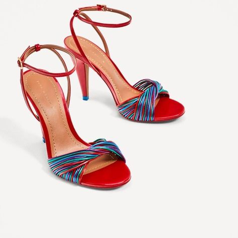 coupon codes best cheap buy best Zara Shoes | Zara Multi Strap Sandals | Color: Blue/Red | Size: 7 ...