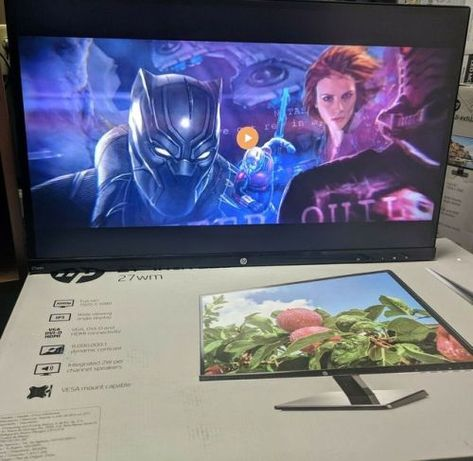 "Black HP 27wm 27/"" LED-Backlit IPS Monitor"