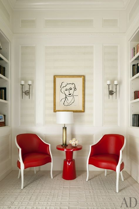 New year, new room. See how a red accent–or two–can stylishly transform any space. #popofcolor