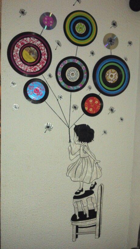 Discos De Vinilo Discos De Vinilo Decoración Con Discos Manualidades