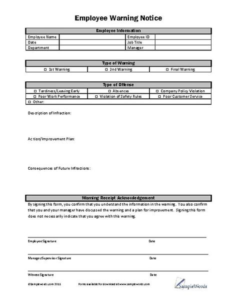 Sample Employee Evaluation Forms Business Pinterest Oficinas - performance improvement plan