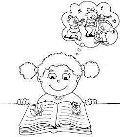 Nina Leyendo Ninos Leyendo Ninos Dibujos Para Ninos