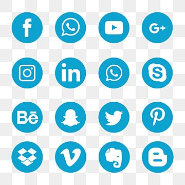 Blue Social Media Icons Social Icons Media Icons Blue Icons Png And Vector With Transparent Background For Free Download Social Media Icons Social Icons Social Media Icons Free