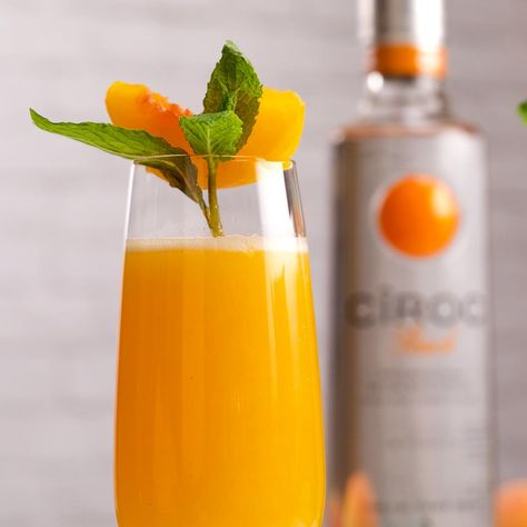 You don't need an occasion to throw your own mini Ciroc celebration — just this recipe for a batch of Bellinis!