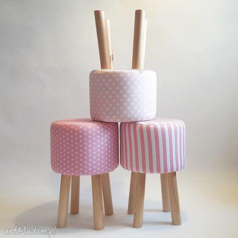 Pufa Różowe Grochy 2 45 Cm Meble Pinterest