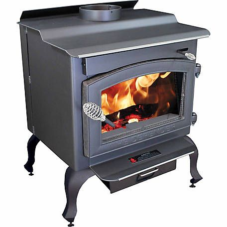 Vogelzang Defender Wood Stove With Blower And Legs 1 200 Sq Ft Tr001bl At Tractor Supply Co Wood Stove Wood Burning Stove Wood