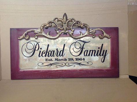 Family Name Plaque by Signs for Design signsfordesign.com