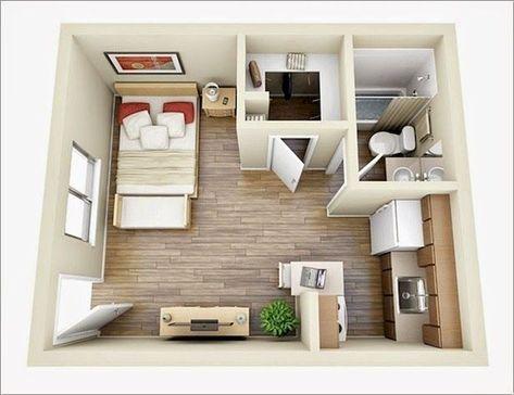 100 Small Studio Apartment Layout Design Ideas Denah Rumah Rumah Minimalis Dan Apartemen Kecil