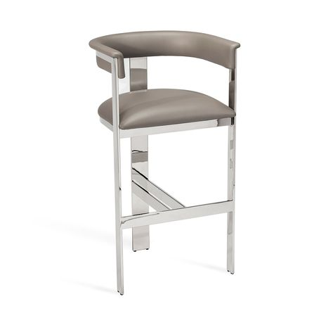 Darcy Bar Stool In Grey Nickel Bar Stools Counter