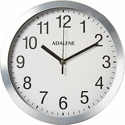 Details About Adalene Modern Metal Wall Clock Silent 10 Inch Analog Wall Clocks Battery In 2020 Wall Clock Silent Metal Wall Clock Wall Clock