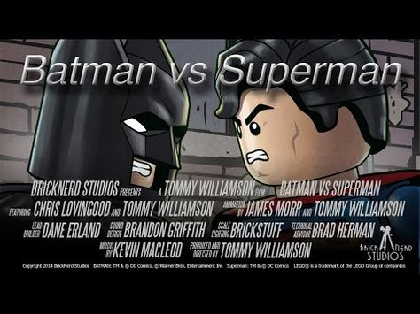 Stop-Motion Animated Short: LEGO Batman Vs. - Stop-Motion Animated Short: LEGO Batman Vs Superman Batman and Superman square off (for some reason) in this stop-motion animated short. Produced and directed by Tommy.
