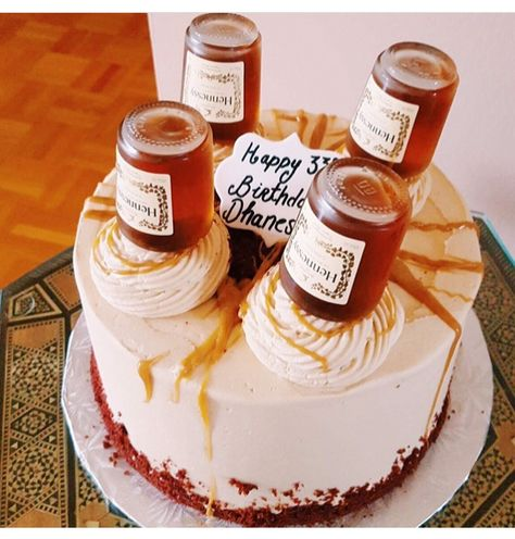Red Velvet Hennessy Bottle Cake Icing Recipe Hennessy Cake Cake Decorating Supplies