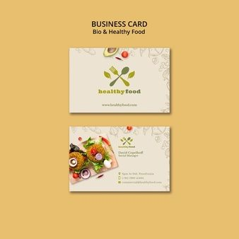 Download Restaurant With Healthy Food Business Card Template For Free Free Business Card Templates Restaurant Business Cards Restaurant Card Design