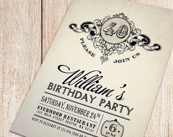 I Love This Invitation Design Vintage 40th Birthday