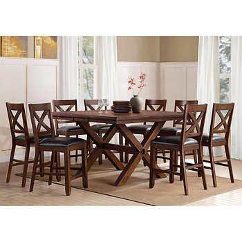 Savonne 9 Piece Counter Height Dining Set Counter Height Dining Sets Bayside Furnishings Dining