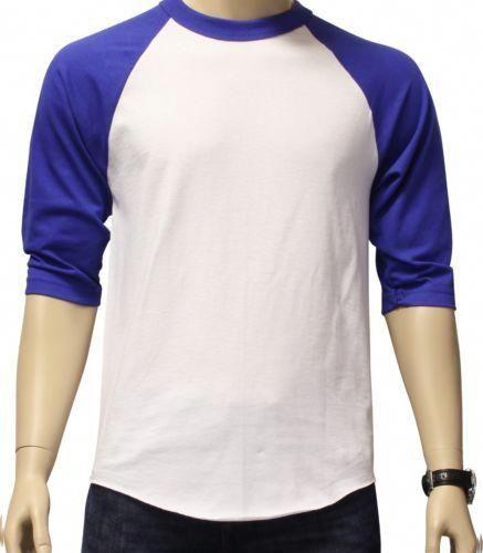 708ff5e1 New 3 4 Sleeve Raglan Baseball Mens Plain Tee Jersey Team Sports T Shirt s  3XL | eBay #MensT-shirts