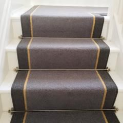 Brintons Carpets Bell Twist Flint Luxor Gold Smoke Stair Runner Stonegate Carpets Stair Runner Stair Runner Carpet Carpet Stairs
