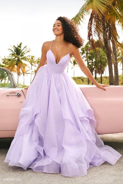 Stunning Prom Dresses, Pretty Prom Dresses, Sherri Hill Prom Dresses, Prom Dress Stores, Sweet 16 Dresses, Formal Prom Dresses, Dress Prom, Pastel Dress Formal, Prom Dresses Long Sleeve