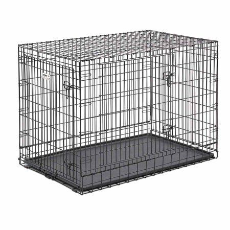 Midwest 748up Pro 48 Inch Double Door Dog Crate 748up Black In 2019 Folding Dog Crate Dog Crate Crates