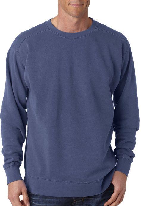 Comfort Colors Adult Crew Neck Sweatshirt Denim Pgmdye L