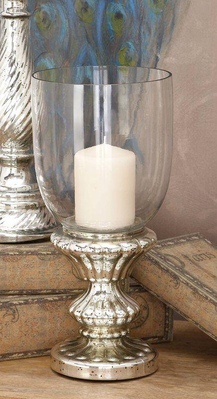 Traditional Glass Pedestal Hurricane Glass Hurricane Candle Holder Candle Holders Glass Candle