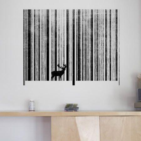 Cool Barcode forest art