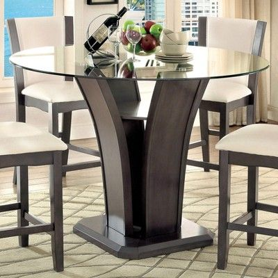 29++ Counter height round glass dining table set Ideas