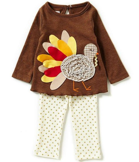 Mud Pie Thanksgiving Turkey Tunic  2T-3T 4T-5T