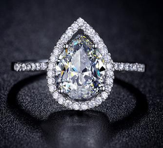 teardrop engagement ring goin to the chapel pinterest engagement teardrop engagement rings and engagement rings - Teardrop Wedding Rings