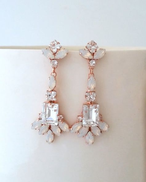 #weddings #jewelry #earrings #bridalearrings #crystalearrings #swarovskiearrings #bridesmaidsgift #statementearrings #bridesmaidsearrings #whiteopalearrings #chandelierearrings #weddingjewelry #opalearrings #opalbridalearrings #bridalopalearrings #opaljewlery