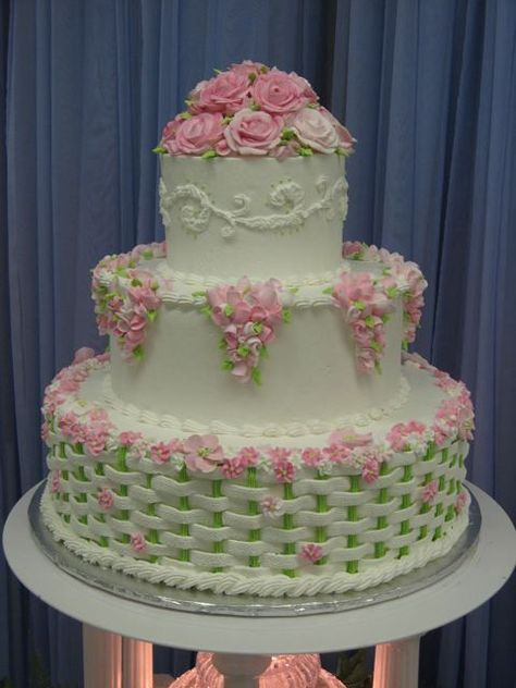 Rose Wedding Cake Bolo 2 Andares Bolos Bonitos Bolos De Andares