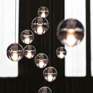Details about Cluster Pendant Modern G4 LED Bubble Crystal ball Ceiling Light Chandelier