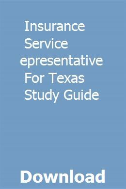 Insurance Service Representative For Texas Study Guide Life