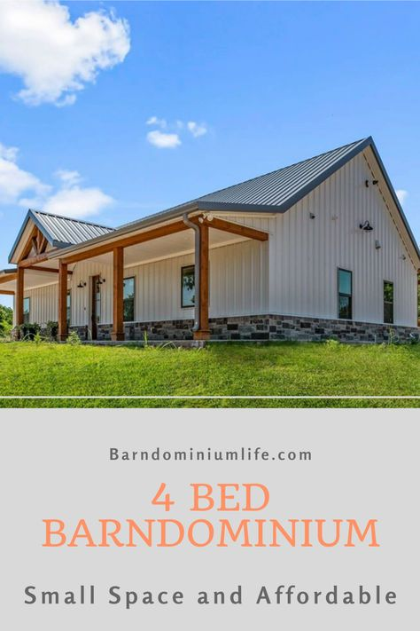 Metal Building House Plans, Steel Building Homes, Pole Barn House Plans, Pole Barn Homes, New House Plans, Dream House Plans, House Floor Plans, Barn Plans, Barn Style Homes