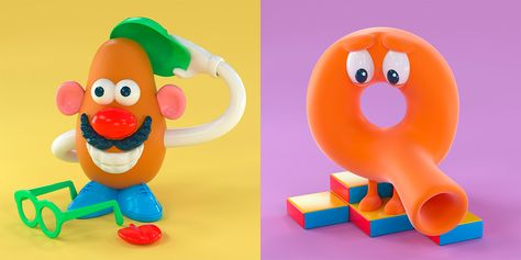 90s TOYpography: Creative Typography Series by Noah Camp | Inspiration Grid