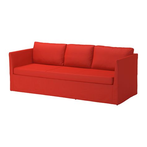 Brathult Sofa Vissle Red Orange Ikea Sofa Orange Sofa