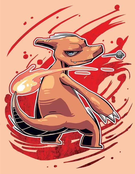 Charmeleon, pokemon starters by Wei Jing.