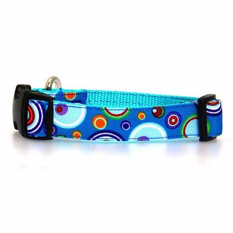 WaLk-e-Woo Martini Dog Collar - Blue