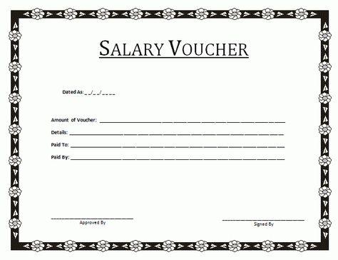Salary Voucher Template By Payslipstemplatescom Payslip Templates