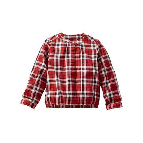 64b7e74e5b5c OshKosh B gosh® Toddler Girl Embellished Plaid Poplin Top