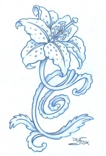 tiger lily drawing tiger lily by jessfox on deviantart wrist ink ideas pinterest lilien applikationen und motive