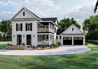 2 Story Southern Style House Plan Greensboro In 2021 Southern House Plan House Plans Two Story House Plans