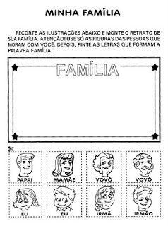 Educando Com Amor Marlize E Silvia Atividades Sobre Familia E