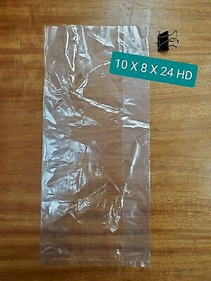 Poly Bag 10x8x24 Clear 100 Count Heavy Duty Gauge For Produce Meat In 2020 Poly Bags Heavy Duty Counting