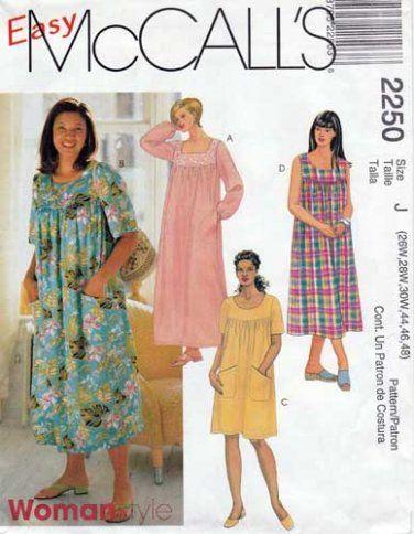 Mccall S 2250 Women S Muumuu Dress In 3 Lengths Sewing Pattern